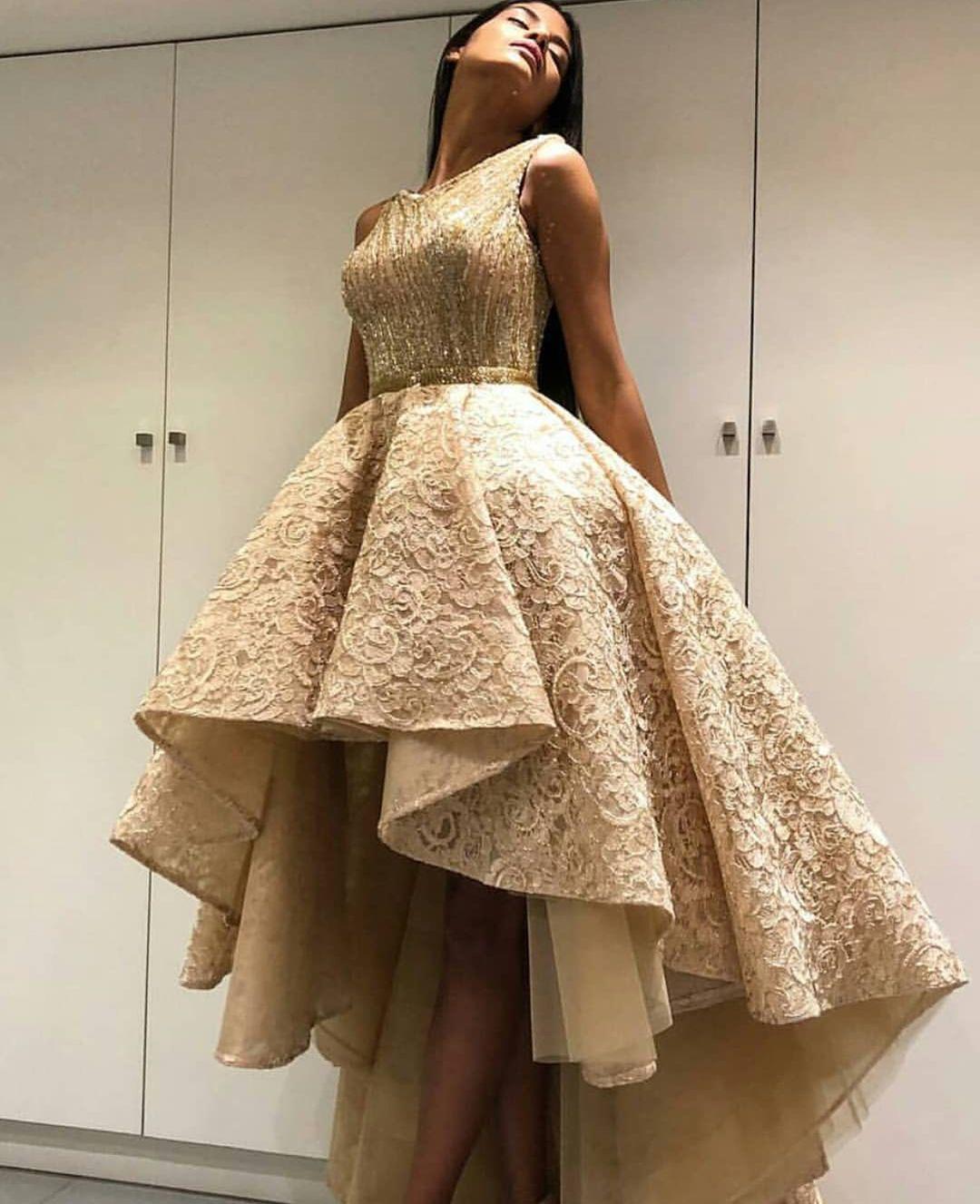 Habit De Reve Gold Dress Short Prom Dresses For Teens Soiree Dress [ 1327 x 1080 Pixel ]