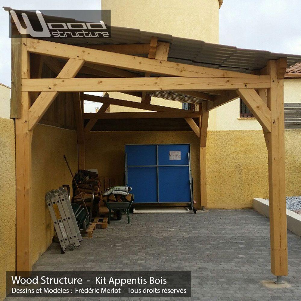 Appentis 1 Pan L Wood Structure En 2020 Auvent Bois Appentis Charpente Bois