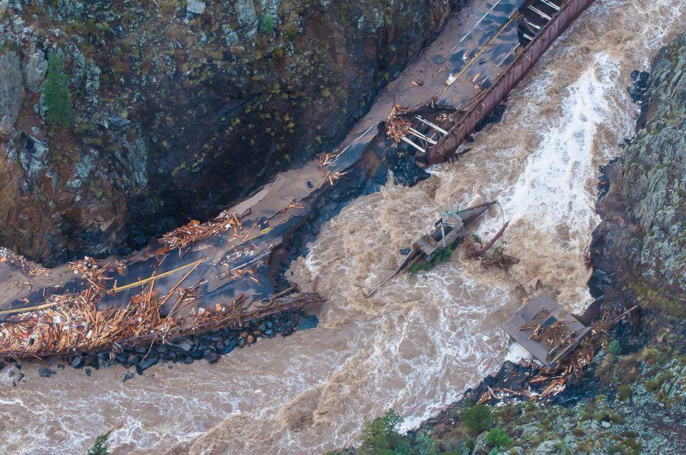 Flood of 2013 - US 34, heading up to Estes Park | Estes Park