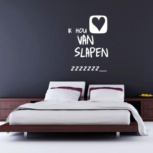 ik hou van slapen muursticker ontzettend leuke sticker voor op de slaapkamer