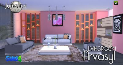 my sims 4 blog arvasy living room set by jomsims