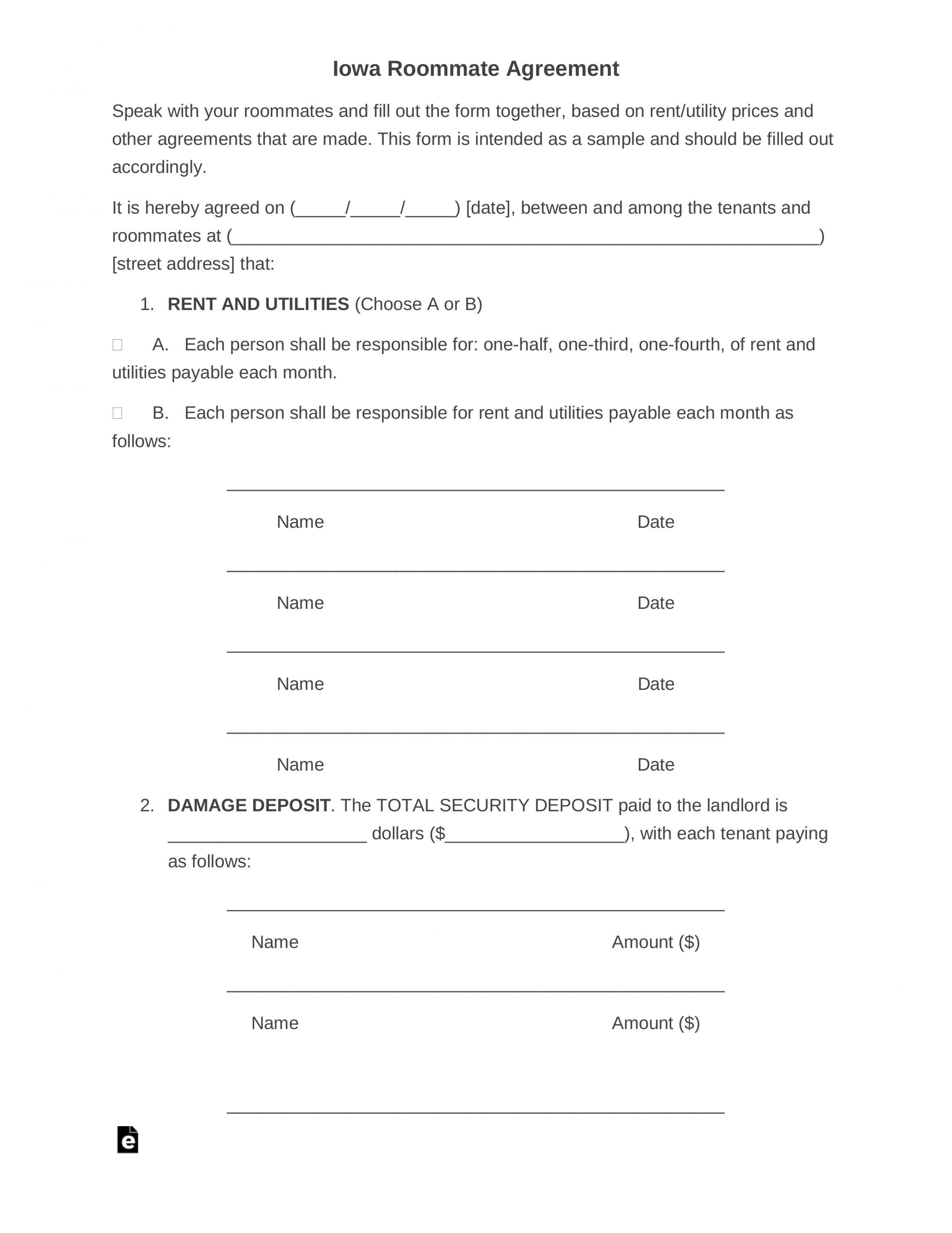 Get Our Image Of Security Deposit Agreement Between Roommates Room Rental Agreement Roommate Agreement Roommate