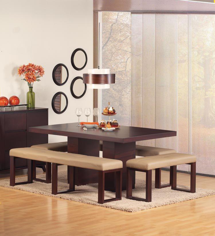 mesa de comedor dubl n banca haban habitat store