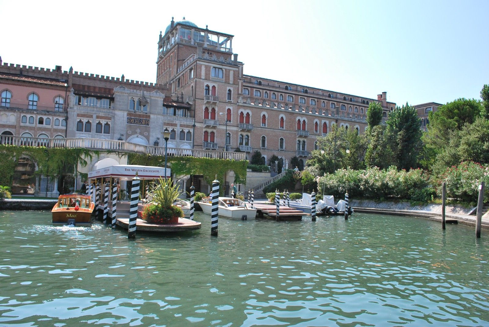 The hotel excelsior on the lido one of the most beautiful hotels in italy the excelsior is a short water taxi ride from venice