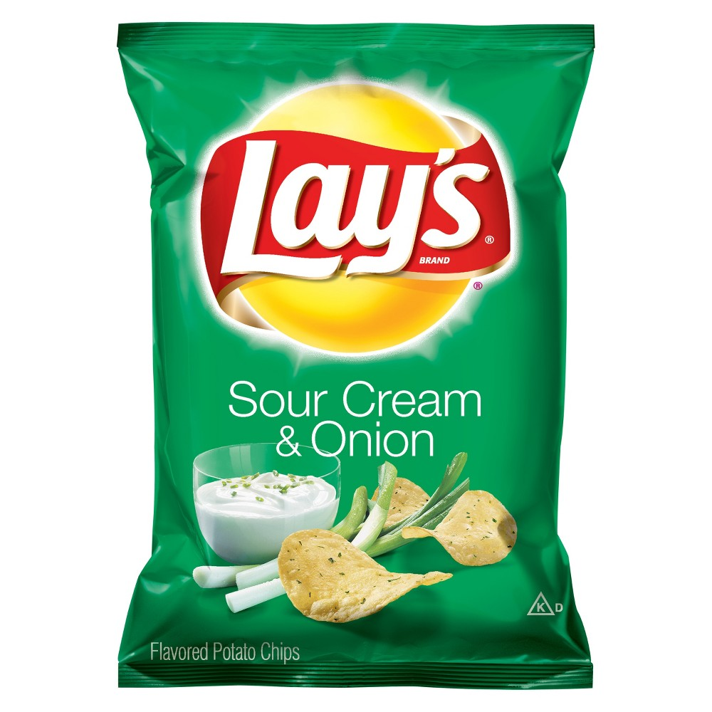 Lay S Sour Cream And Onion Potato Chips 2 875oz Sour Cream And Onion Lays Potato Chips Potato Chips
