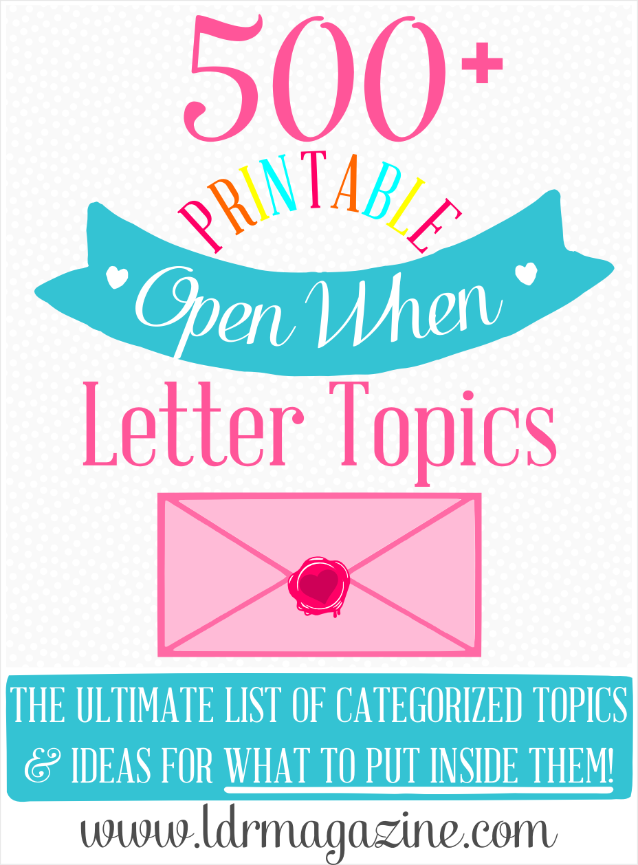 The Ultimate List Of  Open When Letter Ideas Openwhenletters