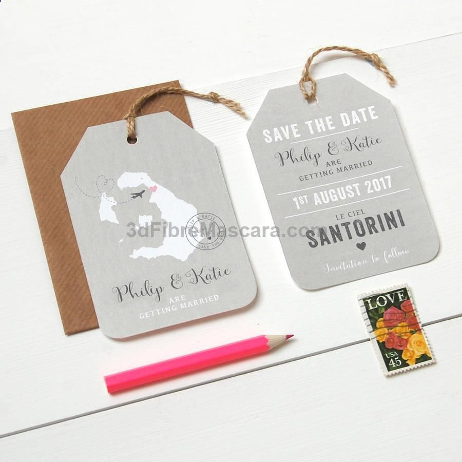 Location Wedding Abroad Save The Date Luggage Tag | Relationships ...