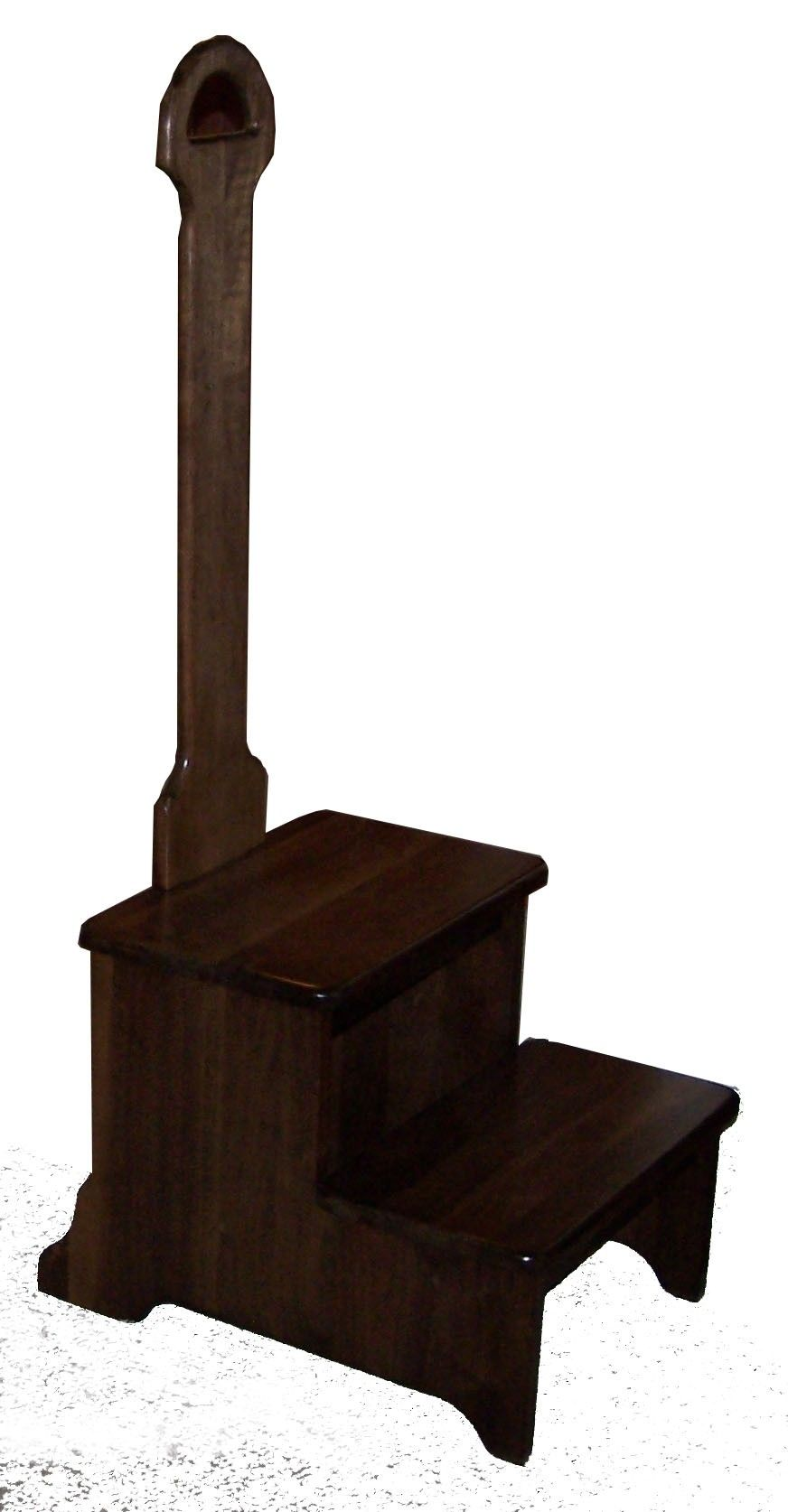 Mega 2 Step Step Stool With Handle Wood Step Stool Hand Crafted Furniture Step Stool