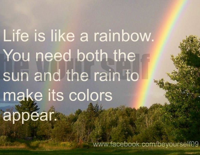 Life Is Like A Rainbow Quote Via Www Facebook Com Beyourself09 Rainbow Quote Life Rainbow