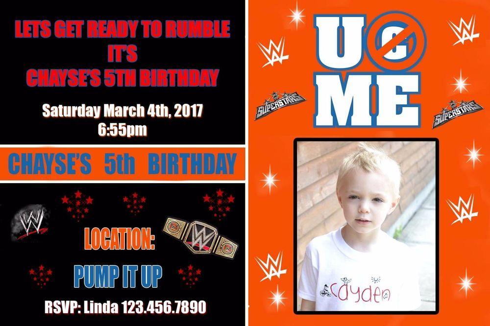 Wwe invitation wwe birthday invitations birthday invitations wwe invitation wwe birthday invitations filmwisefo