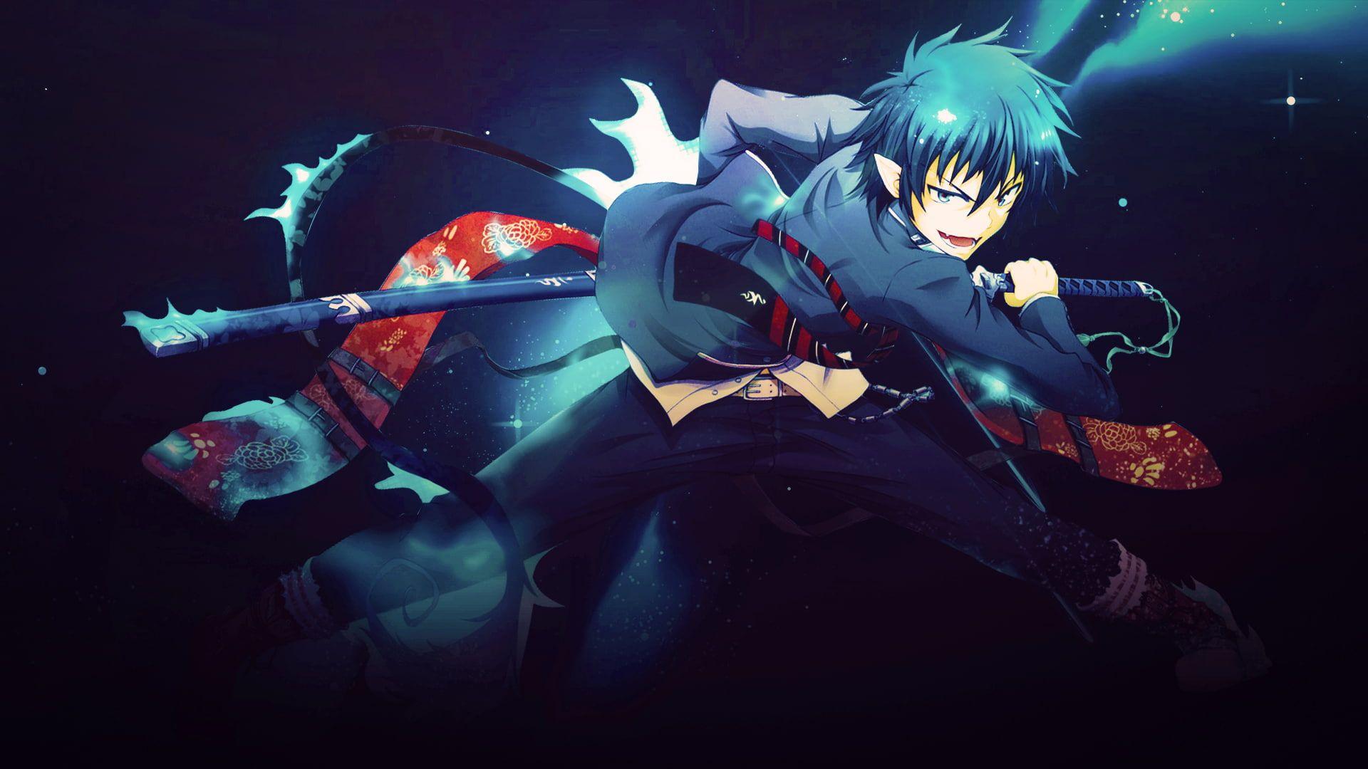 Anime Blue Exorcist Rin Okumura 1080p Wallpaper Hdwallpaper Desktop In 2021 Blue Exorcist Anime Wallper Anime