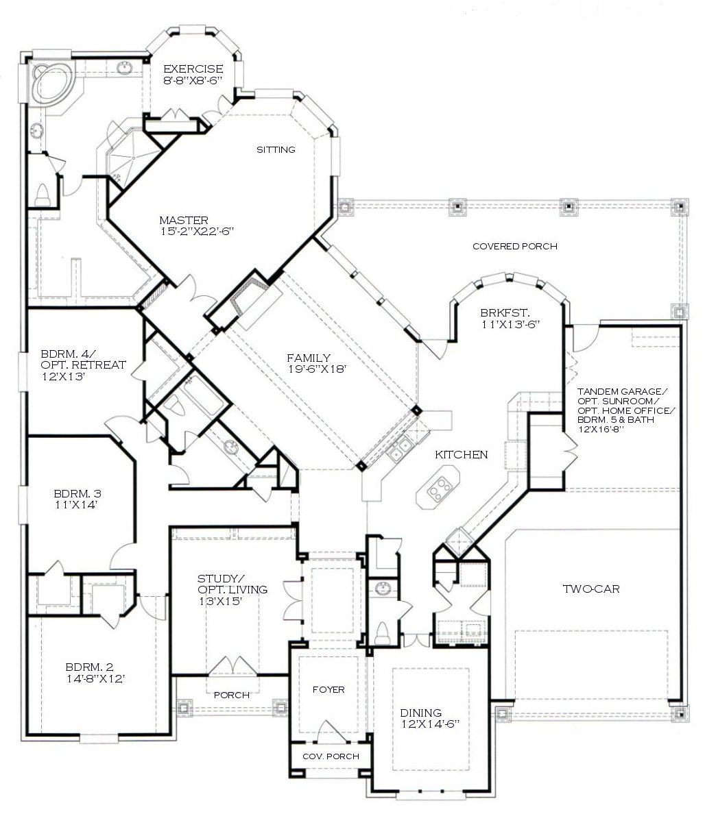 kind of obsessed with this one story floor plan for the home