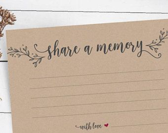 share a memory card instant download printable pdf template word