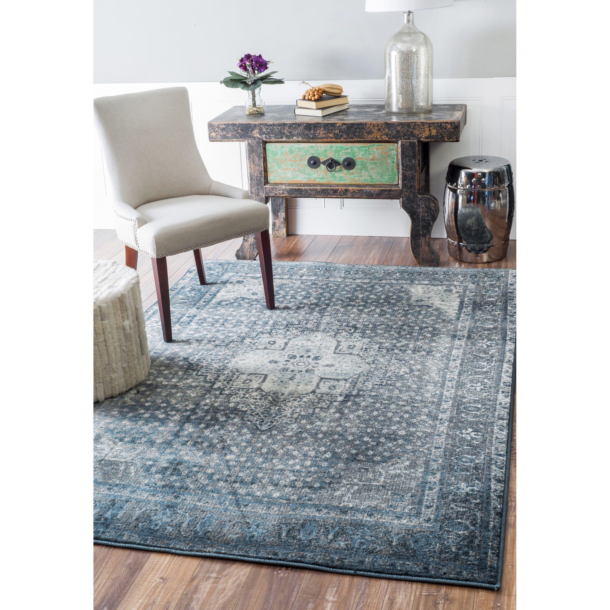 nuLOOM Traditional Vintage Fancy Blue Rug | Bedroom | Pinterest ...