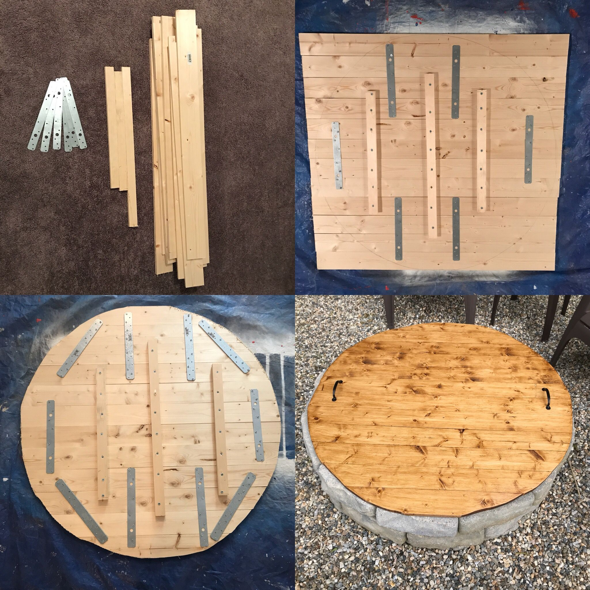 Diy fire pit covertable outdoor fire pit designs