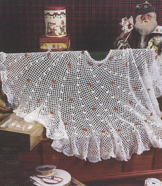 Christmas Tree Skirt Crochet Pattern - Christmas Afghan Crochet ...