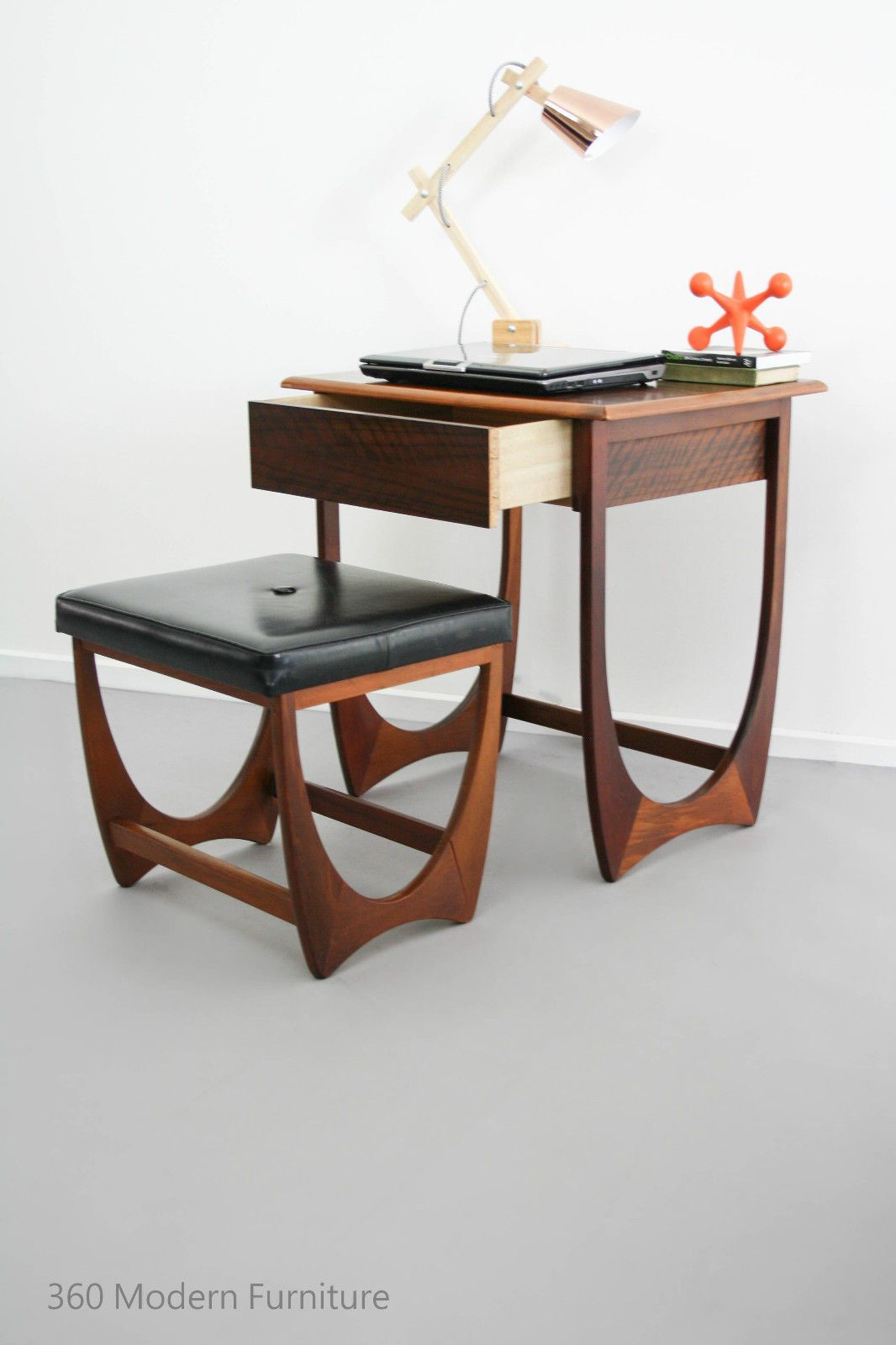 Foyer Table With Stools : Mid century modern kalmar desk hall table drawer console