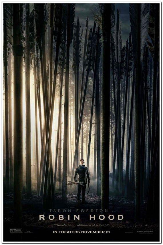 ROBIN HOOD -2018- Original 27x40 ADVANCE movie poster - Taron Egerton, Jamie Foxx, Jamie Dornan, Eve Hewson