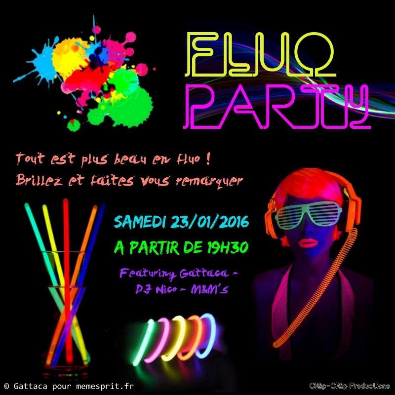 Soir e d 39 anniversaire fluo party flyer id e de f te pinterest fluo - Idee soiree anniversaire ...