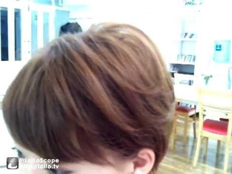 ショートヘアアレンジ 簡単なホットカーラーの巻き方 - YouTube