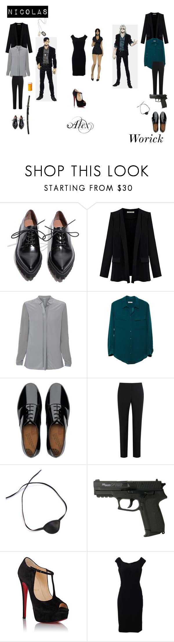 """""""Gangsta: Nicolas,Alex,Worick"""" by scorpio-aki on Polyvore featuring Jeffrey Campbell, Elie Tahari, Equipment, S.W.O.R.D., FitFlop, Paul Smith Black Label, Masquerade, Christian Louboutin, Dolce&Gabbana and mens"""