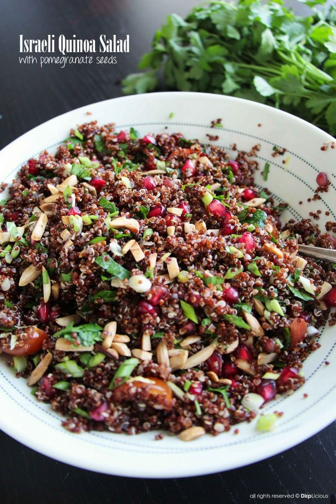 ISRAELI QUINOA SALAD Thermomix.....with pomegranate seeds, parsley, carrot, quinoa