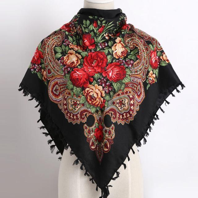 cc6397e3f8e Russia new hot sell Wquare Fashion decorative Scarf handmade tassel ...