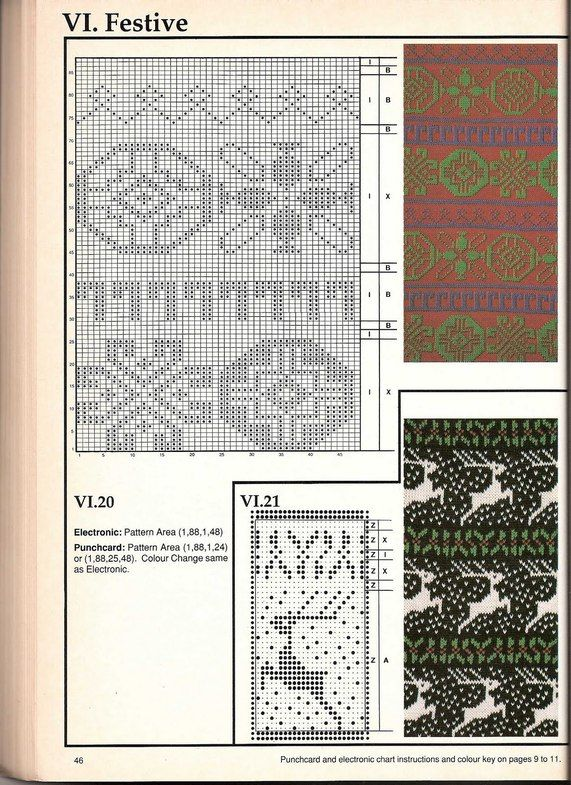 Machine knitting - Jacquard Machine knitting - jacquard # 45 | Punto ...