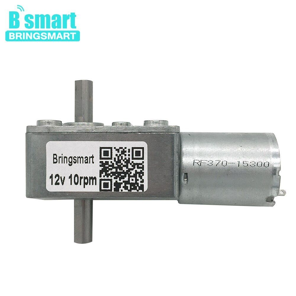 Bringsmart Worm Geared Motor Jgy 370 Double 6 24v Reversed Self Lock Dual Dc Motor Bringsmart Worm Geared Motor Jgy 370 Doubl Worms Electric Bike Spare Parts