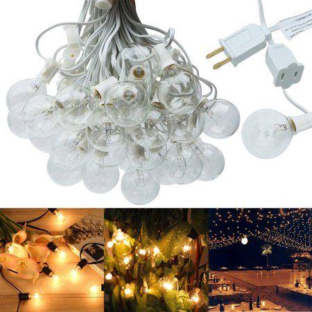 String Lights, Lampat 50Ft G40 Globe String Lights with Bulbs-UL