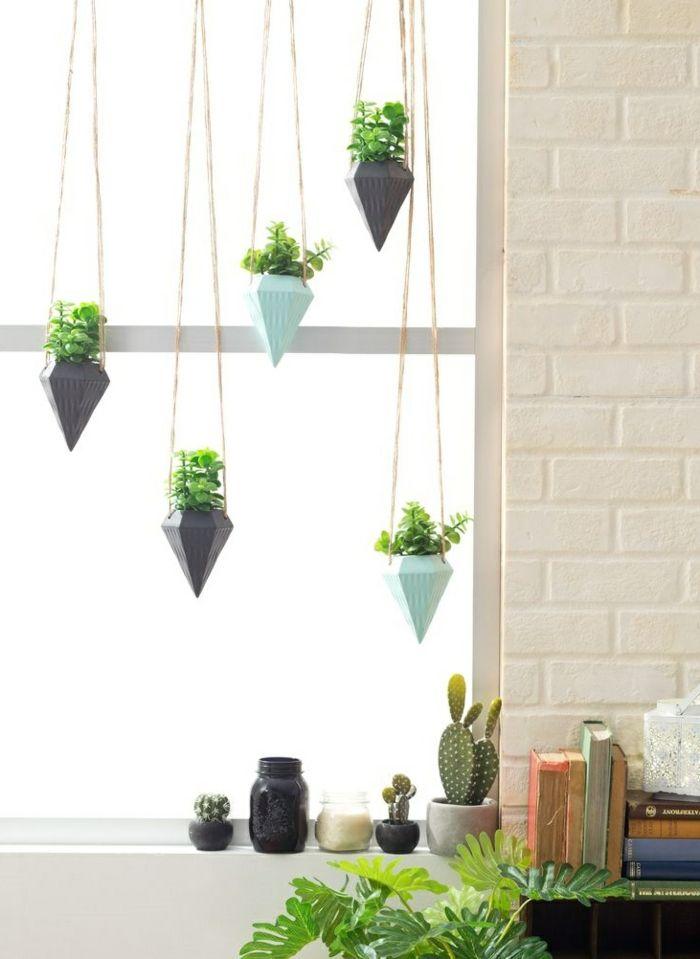Fensterbank Deko - die Farben der Natur durch Pflanzen nach Hause - pflanzen dekoration wohnzimmer
