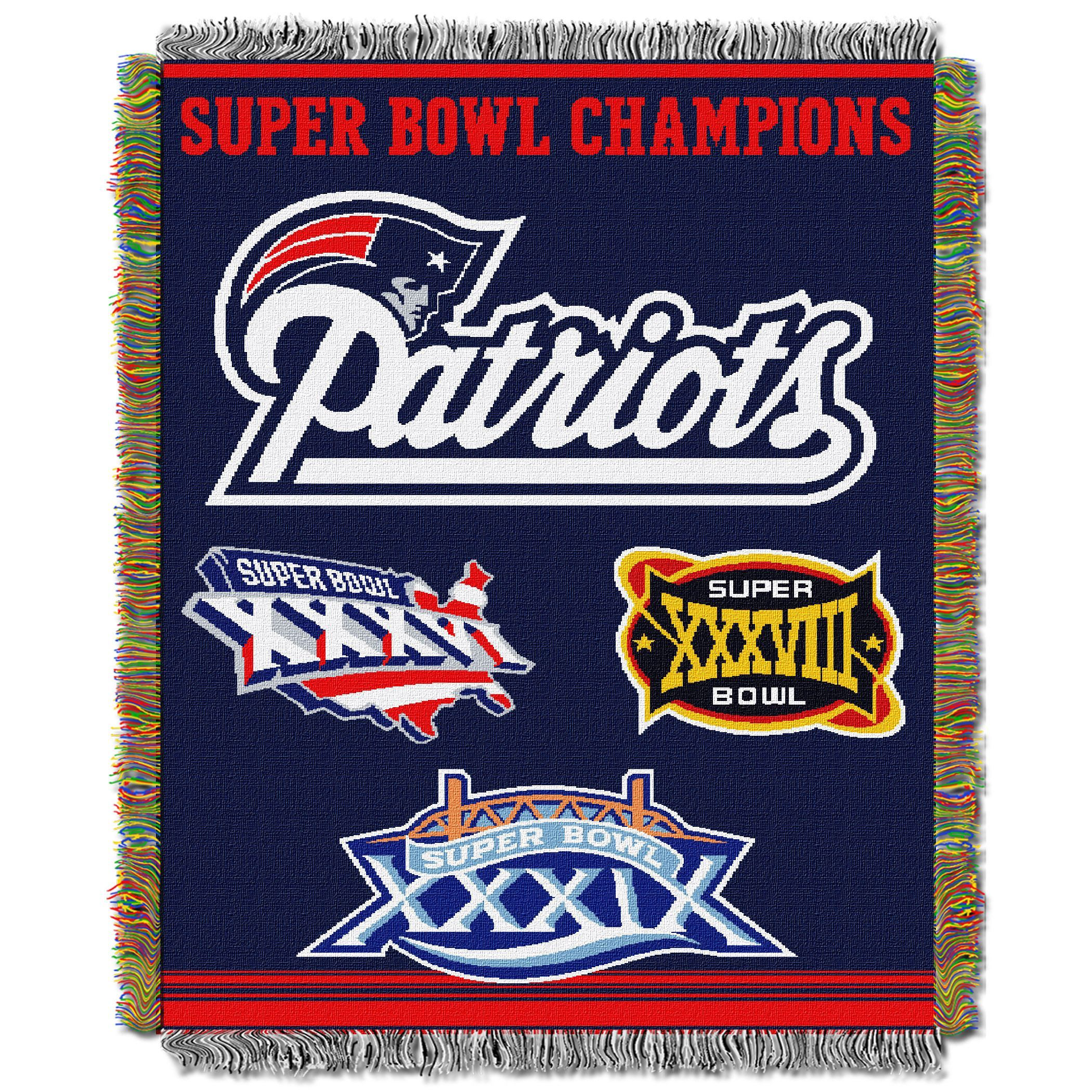 Nfl 051 Super Bowl Champion Woven Tapestry Throw Tapestry Weaving Patriots Bedding New England Patriots