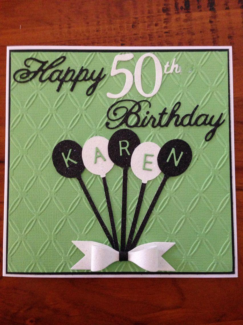 Female 50th Birthday Card Birthday Cards 50th Birthday Cards For Women Birthday Cards For Men