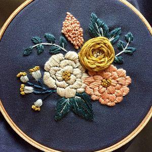 Embroidery Kit Beginner Embroidery Hoop Art Hand Embroidery Art Modern Embroidery DIY Kit Embroidery Pattern Beginner Hoffelt and Hooper