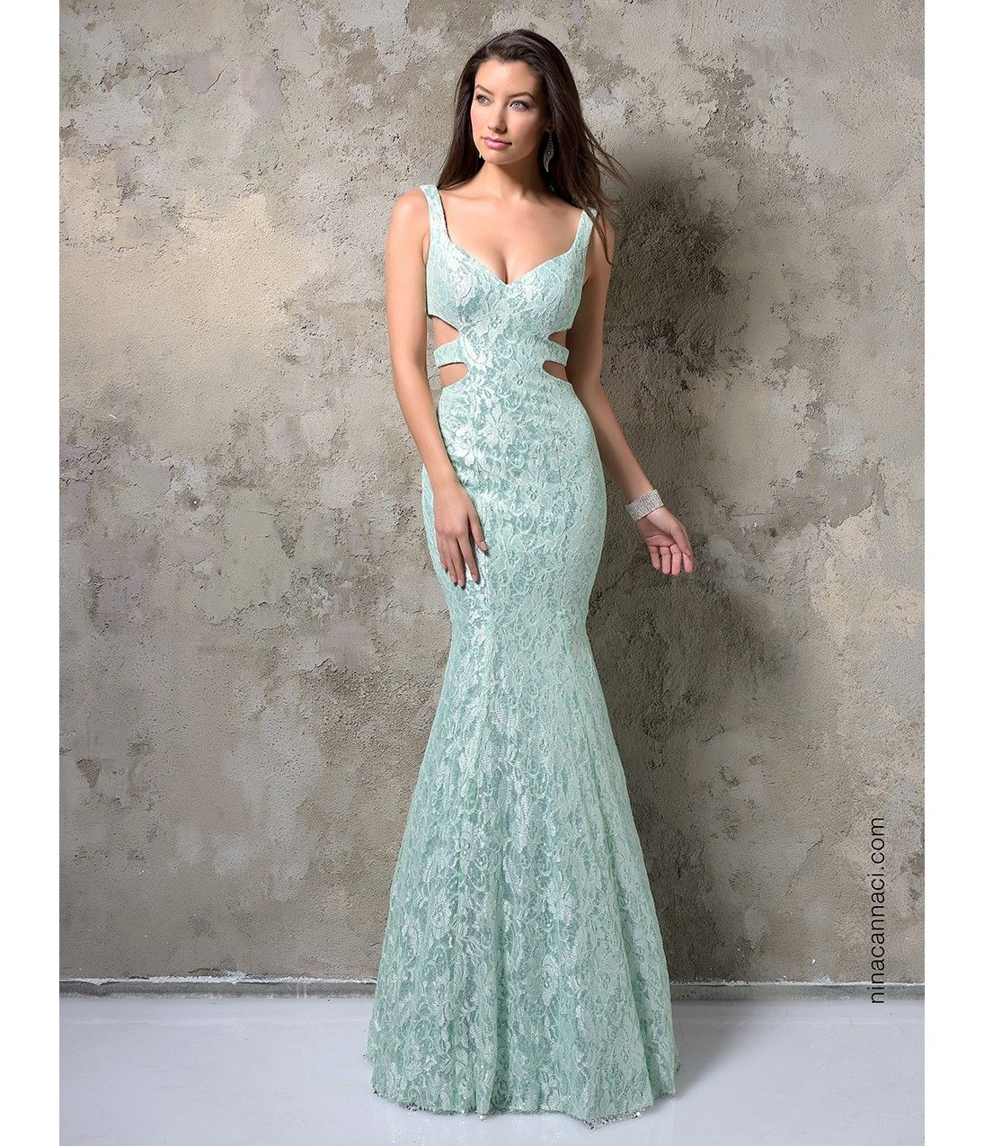 Nina Canacci 9070 Mint Sexy Sequin Lace Long Dress for Prom 2017 ...