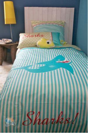 Kinder Bettwasche Mit Hai Fur Jungs Lausejungen