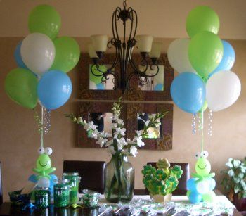 Birthday Party Balloon Decorations Cute frogs Balloons