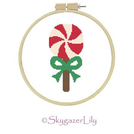 Cross Stitch Pattern Peppermint Lollipop Easy by SkygazerLily, $3.00 ...