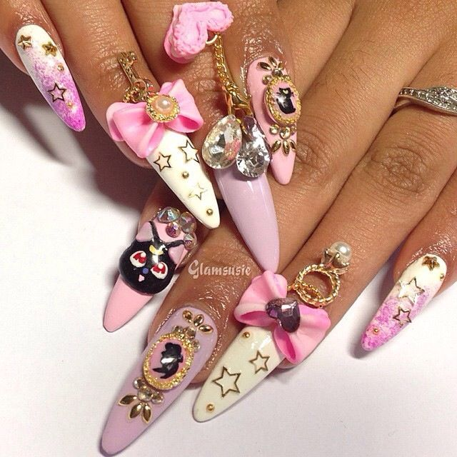 glamsusie on Instagram | Long stiletto nails | Pinterest | Long ...