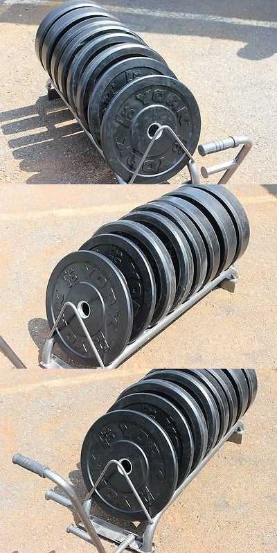 Weight Plates 179817: York Bumper Plate Weight Set 260Lbs Olympic Cross Training BUY IT NOW ONLY: $399.0