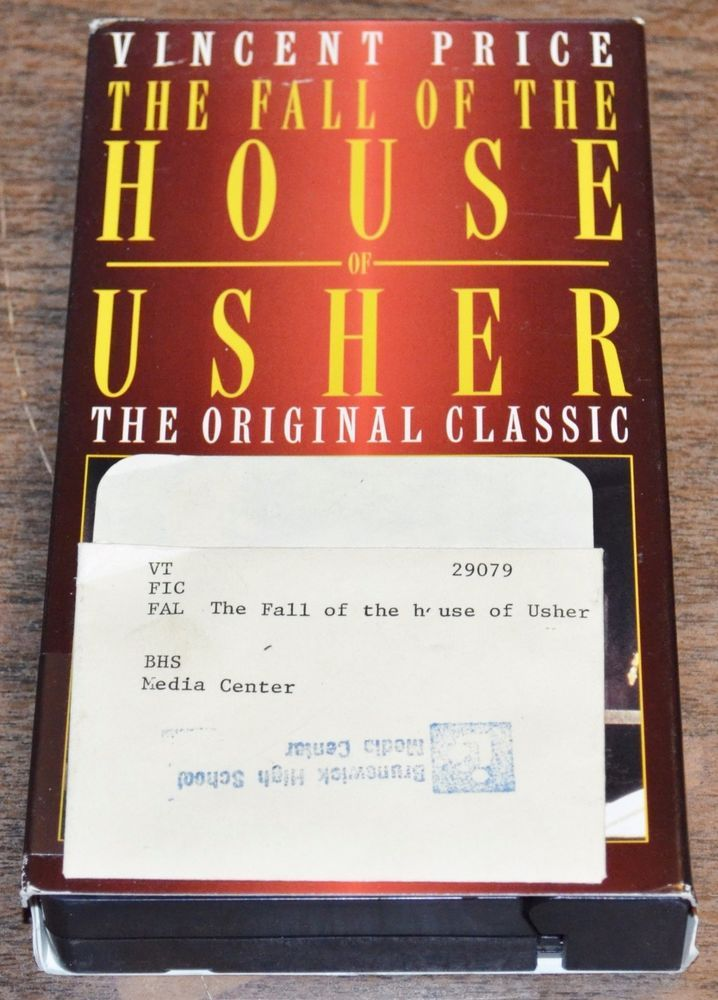The Fall Of The House Of Usher Vincent Price VHS