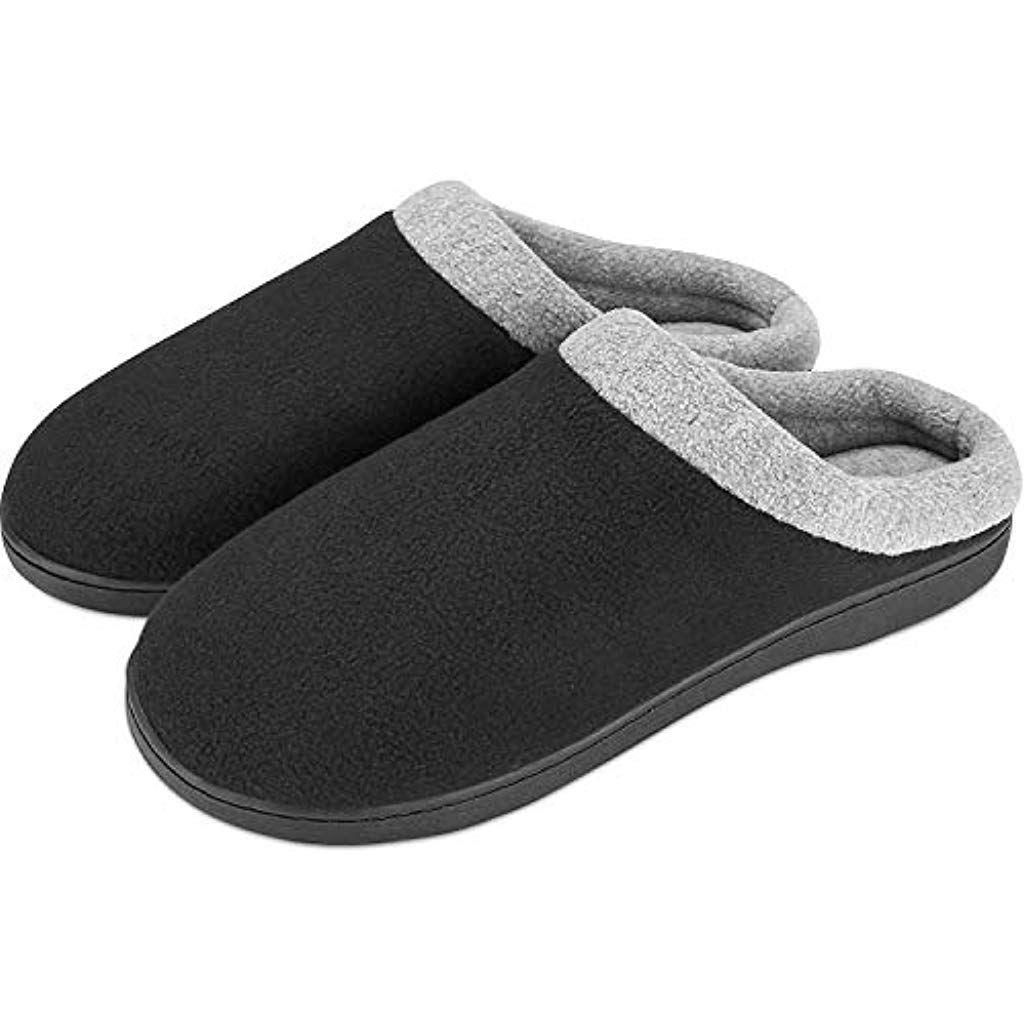 Mens Slippers Soft Cozy Comfortable Memory Foam Non-Slip