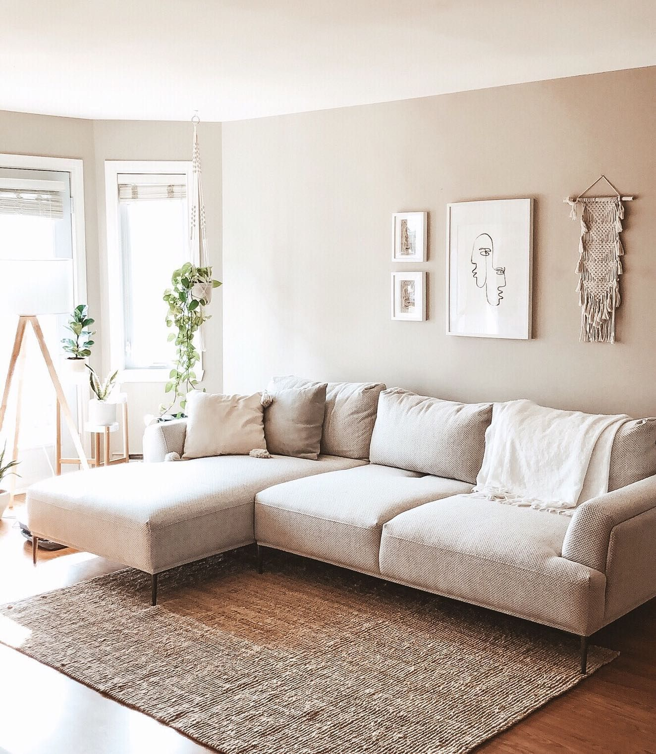 Erin Beige Left Facing Sectional Sofa With Adjustable Backre In