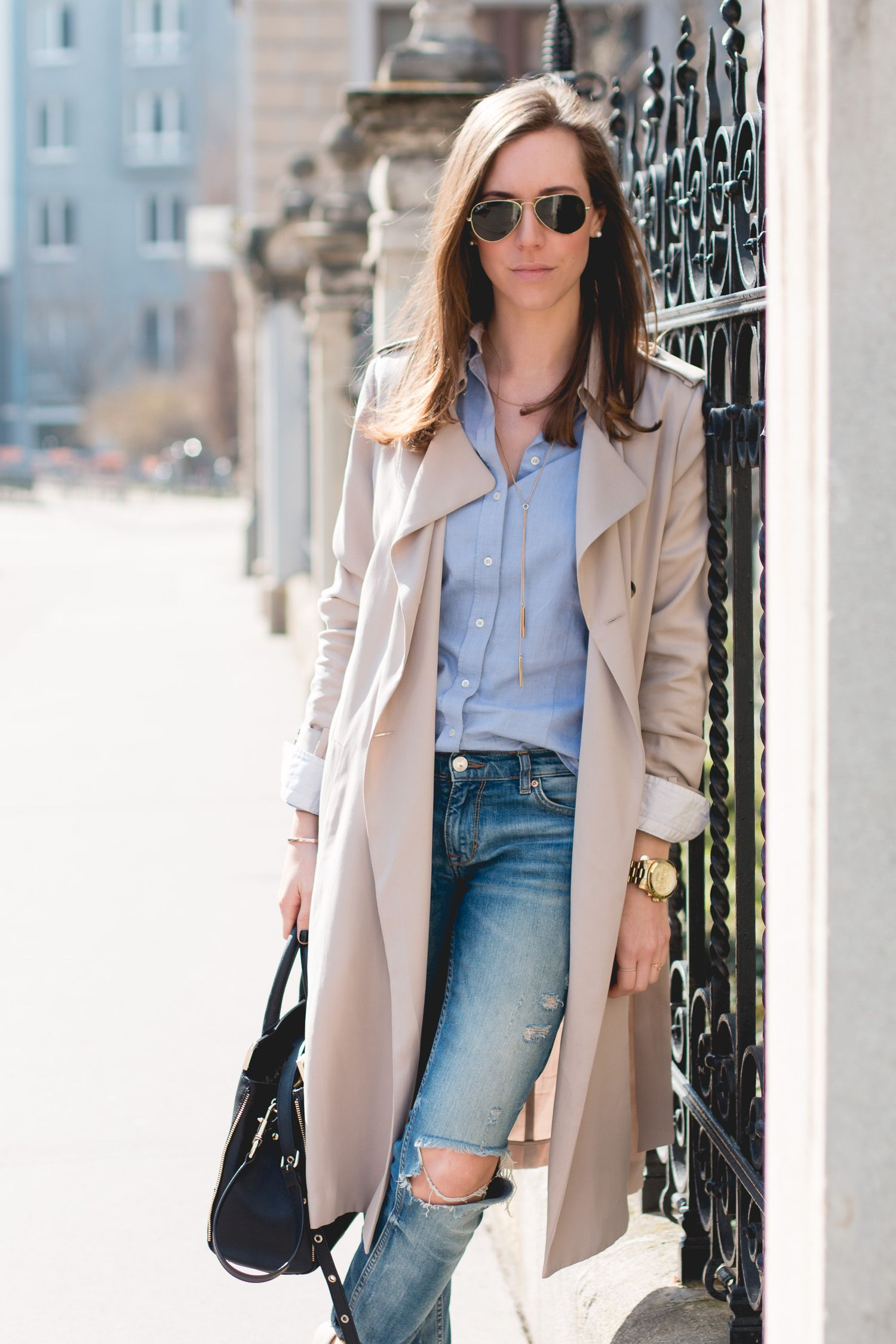 Classic OutfitSweet Outfits Beige Trenchcoat Pinterest HE9D2I