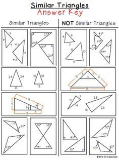 Similar Triangles Sorting Activity {Freebie} | geometria | Pinterest ...