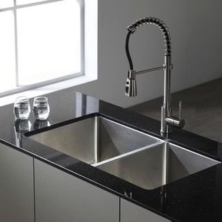 Ruvati 16 Gauge Stainless Steel 33 Inch Double Bowl Rectangular Undermount Kitchen Sink Ping The Best Deals On Sinks