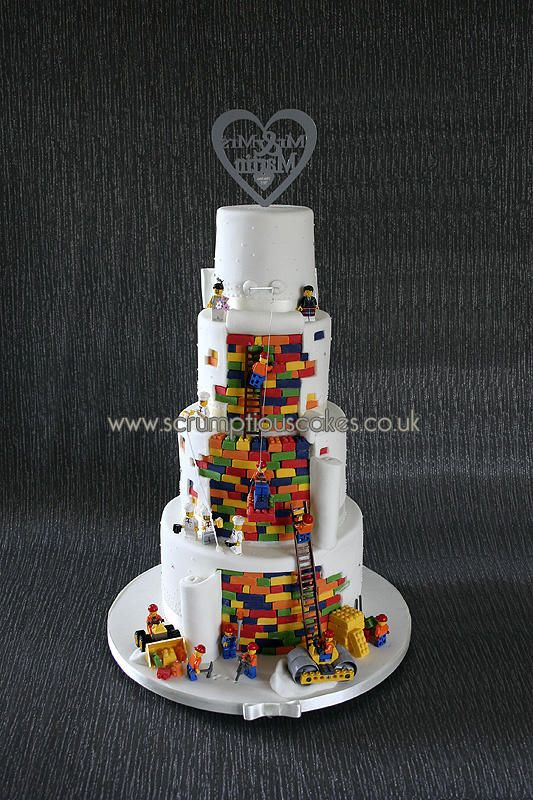 Lego Wedding Cake Cake By Scrumptious Cakes Food