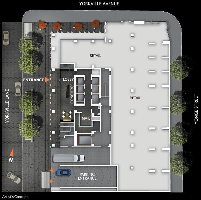 No 1 Yorkville Amenities Ground Floor Condo Floor Plans Floor Plans Luxury Condo