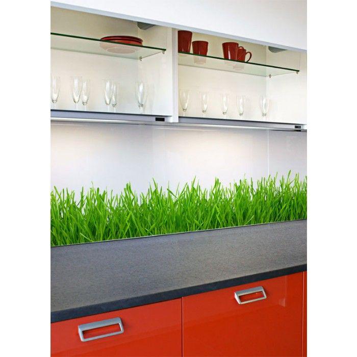 Küchenrückwand / Spritzschutz - DIY Hinterglasfolie (blickdicht