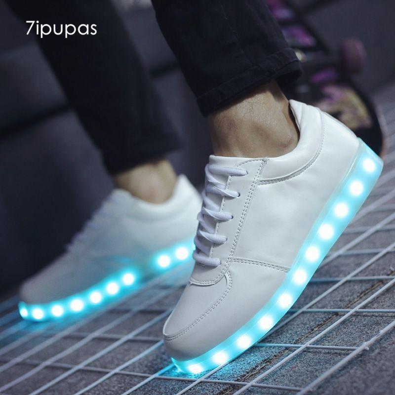 7ipupas Spring Summer Flash Led Shoes 22 Style Colorful Fluorescent Kids Usb Recharge Luminous Sneakers Unisex Led Led Shoes Sneakers Fashion Outfits Lit Shoes